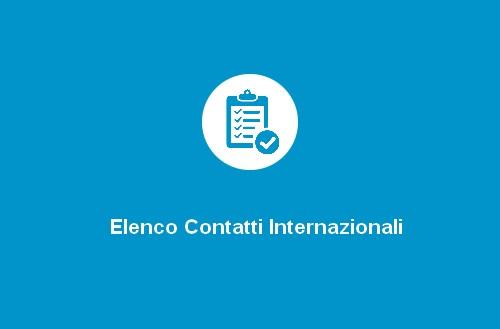 Elenco Contatti Internazionali