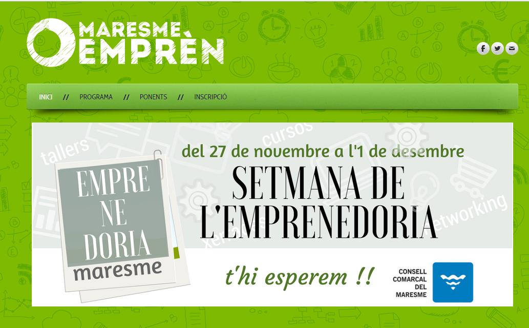 Barcelona Export partecipa come relatore alla Setmana de l'Emprenadoria del Consell Comarcal del Maresme (CCM)